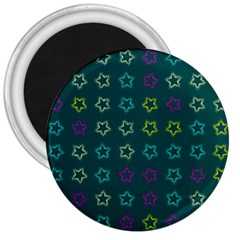 Spray Stars Pattern F 3  Magnets by MoreColorsinLife