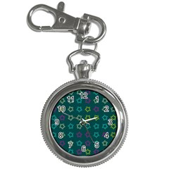 Spray Stars Pattern F Key Chain Watches by MoreColorsinLife