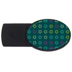 Spray Stars Pattern F Usb Flash Drive Oval (2 Gb) by MoreColorsinLife