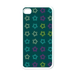 Spray Stars Pattern F Apple Iphone 4 Case (white) by MoreColorsinLife