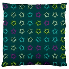 Spray Stars Pattern F Large Flano Cushion Case (one Side)