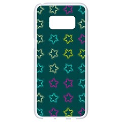 Spray Stars Pattern F Samsung Galaxy S8 White Seamless Case by MoreColorsinLife