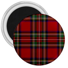 Red Tartan Plaid 3  Magnets by allthingseveryone