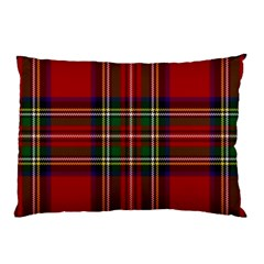 Red Tartan Plaid Pillow Case (two Sides) by allthingseveryone