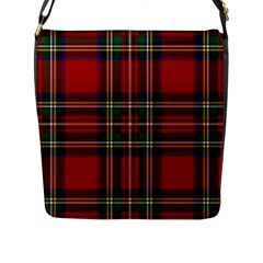 Red Tartan Plaid Flap Messenger Bag (l)  by allthingseveryone
