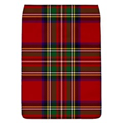 Red Tartan Plaid Flap Covers (l)  by allthingseveryone