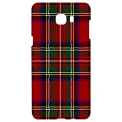 Red Tartan Plaid Samsung C9 Pro Hardshell Case  by allthingseveryone