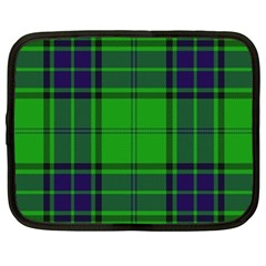 Green And Blue Plaid Netbook Case (large) by allthingseveryone