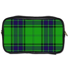 Green And Blue Plaid Toiletries Bags by allthingseveryone