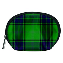 Green And Blue Plaid Accessory Pouches (medium)  by allthingseveryone