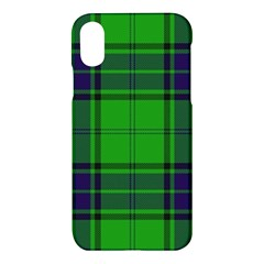 Green And Blue Plaid Apple Iphone X Hardshell Case