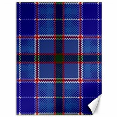Blue Heather Plaid Canvas 36  X 48   by allthingseveryone