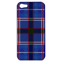 Blue Heather Plaid Apple Iphone 5 Hardshell Case by allthingseveryone