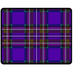 Purple Tartan Plaid Double Sided Fleece Blanket (medium)  by allthingseveryone