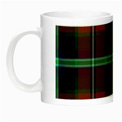 Purple And Red Tartan Plaid Night Luminous Mugs