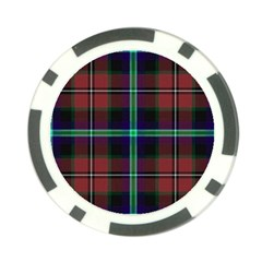 Purple And Red Tartan Plaid Poker Chip Card Guard (10 Pack) by allthingseveryone