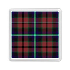 Purple And Red Tartan Plaid Memory Card Reader (square)  by allthingseveryone