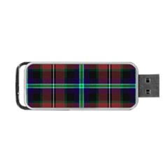 Purple And Red Tartan Plaid Portable Usb Flash (two Sides) by allthingseveryone