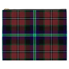 Purple And Red Tartan Plaid Cosmetic Bag (xxxl)  by allthingseveryone