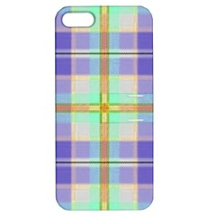 Blue And Yellow Plaid Apple Iphone 5 Hardshell Case With Stand by allthingseveryone