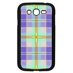 Blue And Yellow Plaid Samsung Galaxy Grand Duos I9082 Case (black) by allthingseveryone