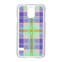 Blue And Yellow Plaid Samsung Galaxy S5 Case (white) by allthingseveryone