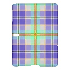 Blue And Yellow Plaid Samsung Galaxy Tab S (10 5 ) Hardshell Case  by allthingseveryone