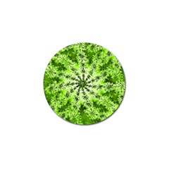Lime Green Starburst Fractal Golf Ball Marker (10 Pack) by allthingseveryone