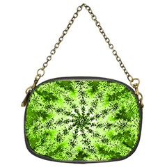 Lime Green Starburst Fractal Chain Purses (one Side)  by allthingseveryone