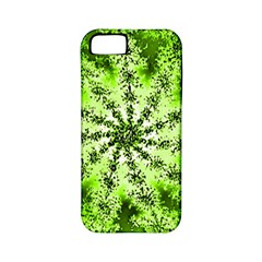 Lime Green Starburst Fractal Apple Iphone 5 Classic Hardshell Case (pc+silicone) by allthingseveryone