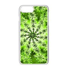 Lime Green Starburst Fractal Apple Iphone 7 Plus Seamless Case (white)
