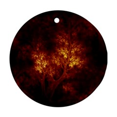 Artsy Brown Trees Ornament (round)