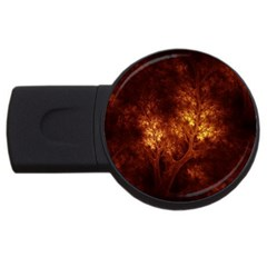 Artsy Brown Trees Usb Flash Drive Round (2 Gb)