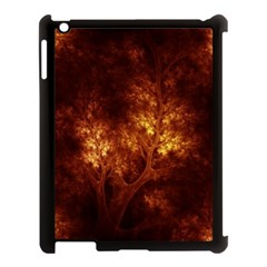 Artsy Brown Trees Apple Ipad 3/4 Case (black) by allthingseveryone