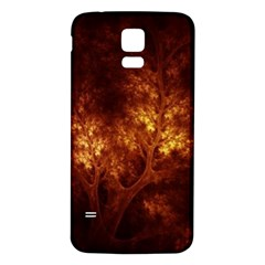 Artsy Brown Trees Samsung Galaxy S5 Back Case (white)