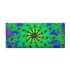 Green Psychedelic Starburst Fractal Cosmetic Storage Cases by allthingseveryone