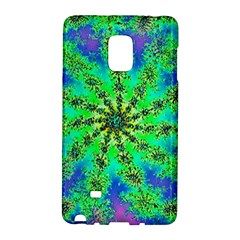 Green Psychedelic Starburst Fractal Galaxy Note Edge