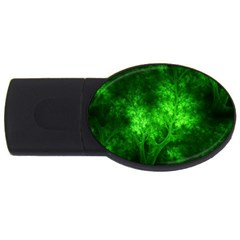 Artsy Bright Green Trees Usb Flash Drive Oval (2 Gb) by allthingseveryone