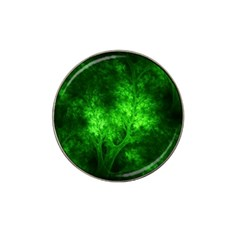 Artsy Bright Green Trees Hat Clip Ball Marker (4 Pack) by allthingseveryone