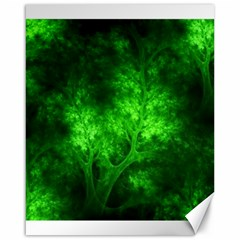 Artsy Bright Green Trees Canvas 16  X 20
