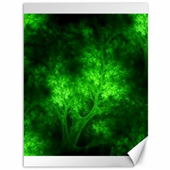 Artsy Bright Green Trees Canvas 36  X 48   by allthingseveryone