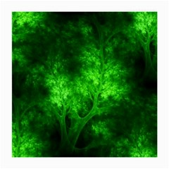 Artsy Bright Green Trees Medium Glasses Cloth