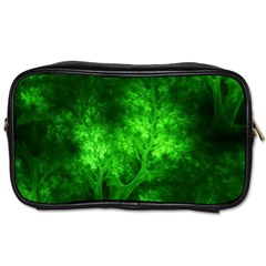 Artsy Bright Green Trees Toiletries Bags by allthingseveryone