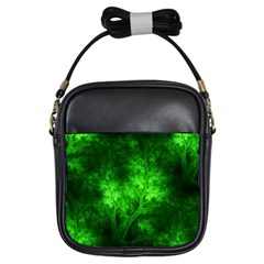 Artsy Bright Green Trees Girls Sling Bags