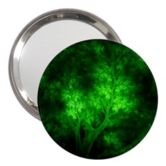Artsy Bright Green Trees 3  Handbag Mirrors