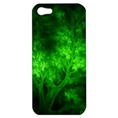 Artsy Bright Green Trees Apple Iphone 5 Hardshell Case by allthingseveryone