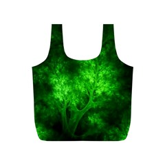 Artsy Bright Green Trees Full Print Recycle Bags (s)