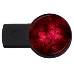 Artsy Red Trees Usb Flash Drive Round (2 Gb) by allthingseveryone
