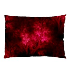 Artsy Red Trees Pillow Case by allthingseveryone