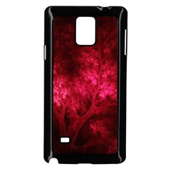 Artsy Red Trees Samsung Galaxy Note 4 Case (black)